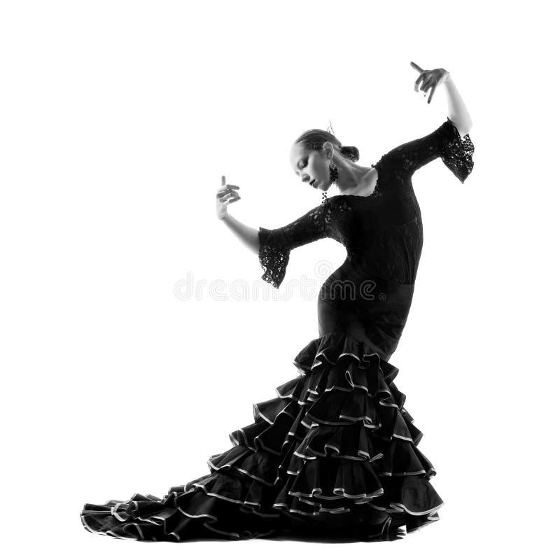 De danserssilhouet van het flamenco royalty-vrije stock afbeelding