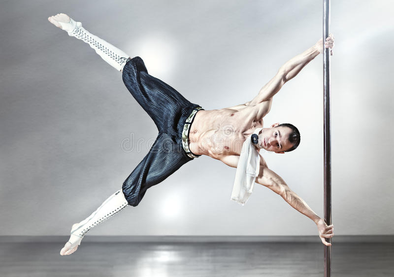 De dansmens van Pool stock fotografie