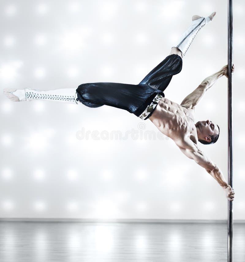 De dansmens van Pool stock afbeeldingen