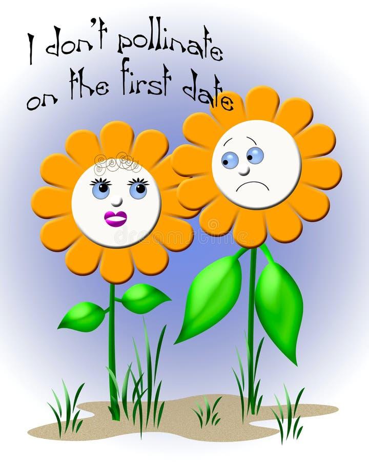 De datum van Daisy vector illustratie