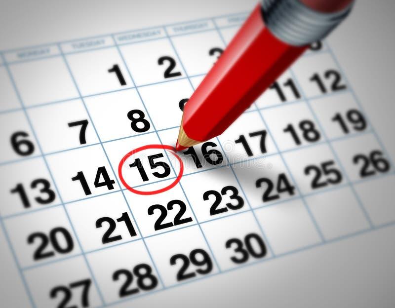 De datum van de kalender stock illustratie