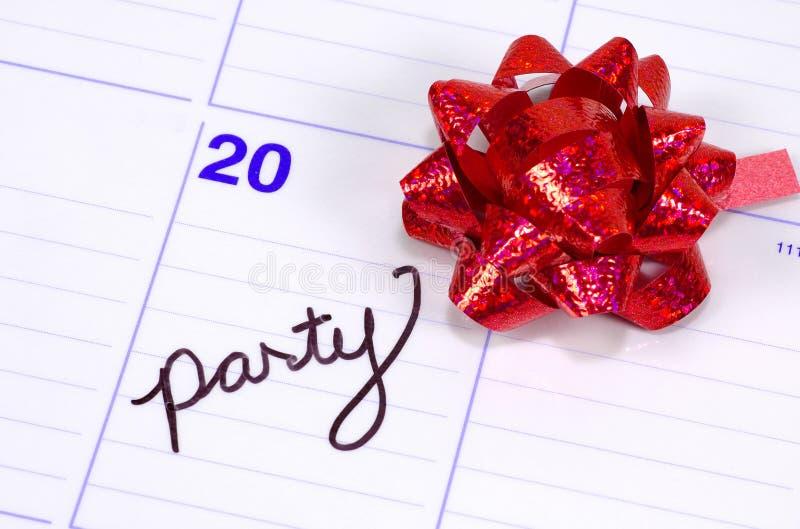 De Datum van de partij royalty-vrije stock afbeelding