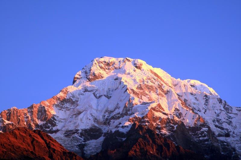 De de bergpiek van Himalayagebergte royalty-vrije stock fotografie