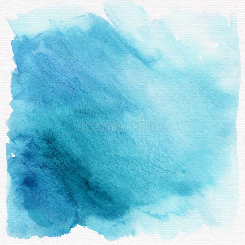 De de blauwe achtergrond of textuur van de grungewaterverf Vector vector illustratie
