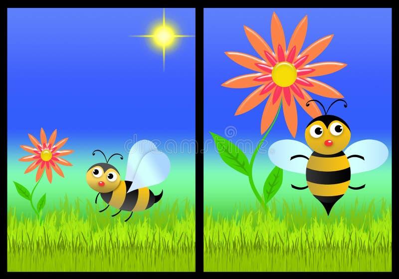 De de bloemen voorzijde en rug van de uitnodigingskaart (02) royalty-vrije illustratie
