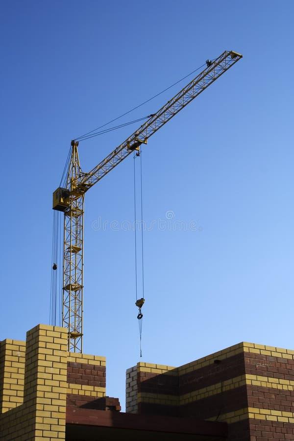 De de bouwkraan. stock afbeeldingen