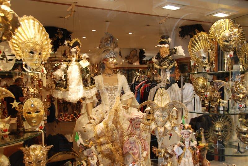 De de carnaval kostuums en maskers van Venetië royalty-vrije stock afbeeldingen