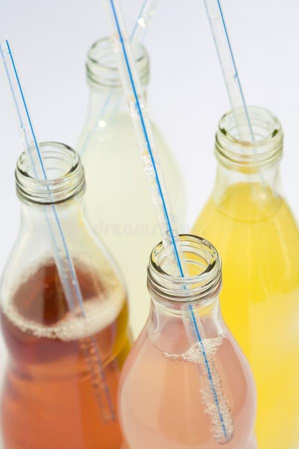 De de geassorteerde aroma's en kleuren van de soda stock fotografie