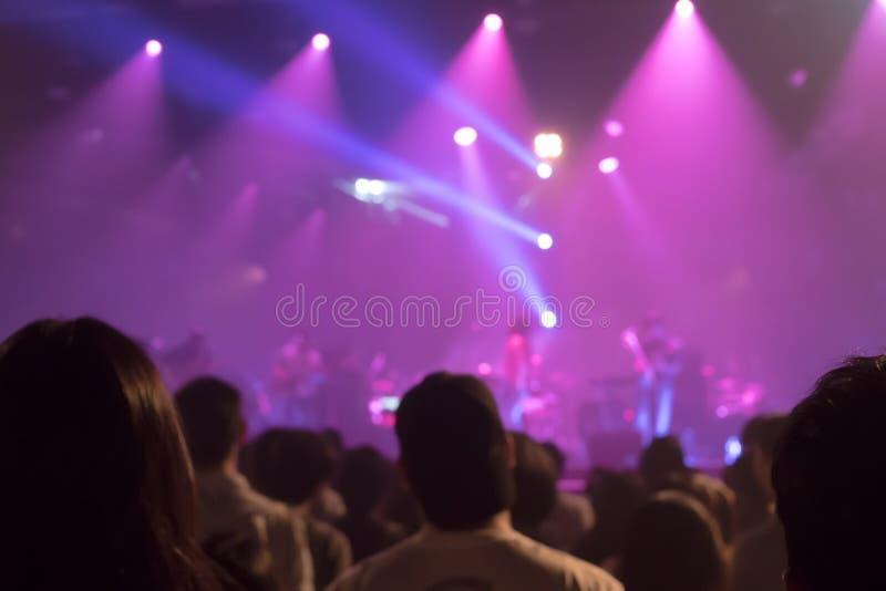 De de-geconcentreerde onscherpe menigten van de muziekband royalty-vrije stock foto's