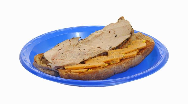 De de gesneden Borst van de Kip en Sandwich van de Kaas royalty-vrije stock fotografie