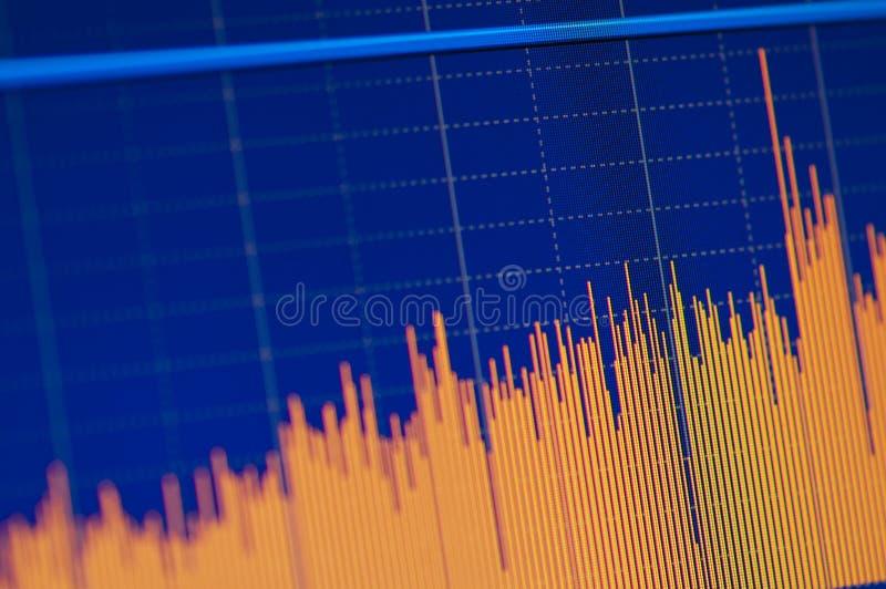 De de grafiekgroei van de voorraad royalty-vrije stock afbeelding