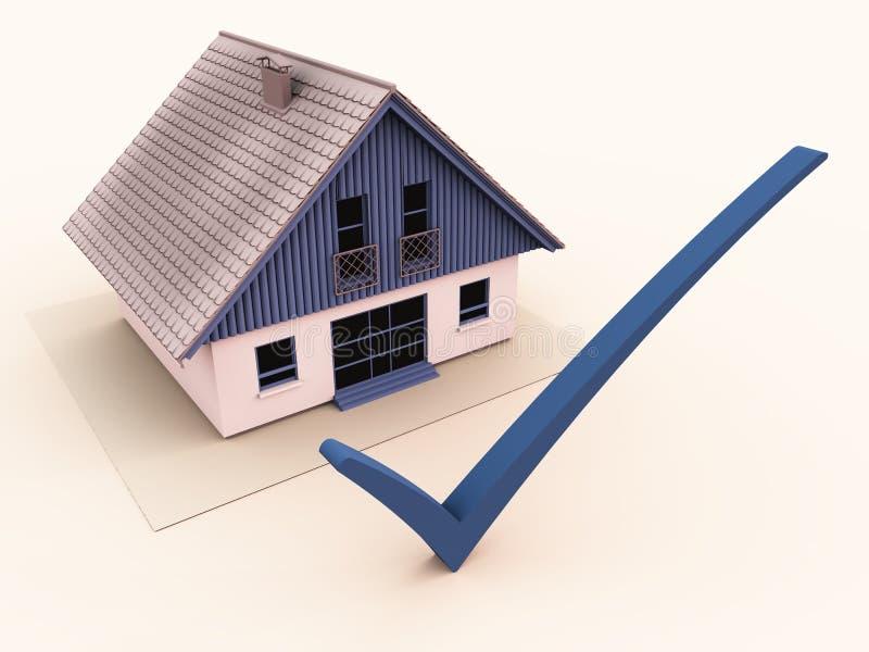 De de inspectieverzekering van het huis of koopt selectie stock illustratie
