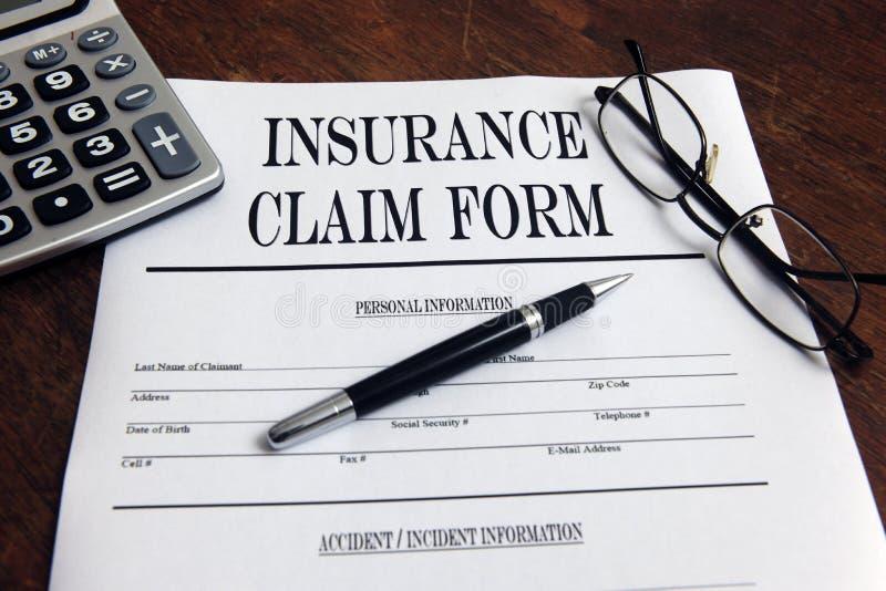 De de lege vorm en pen van de verzekeringseis royalty-vrije stock afbeeldingen