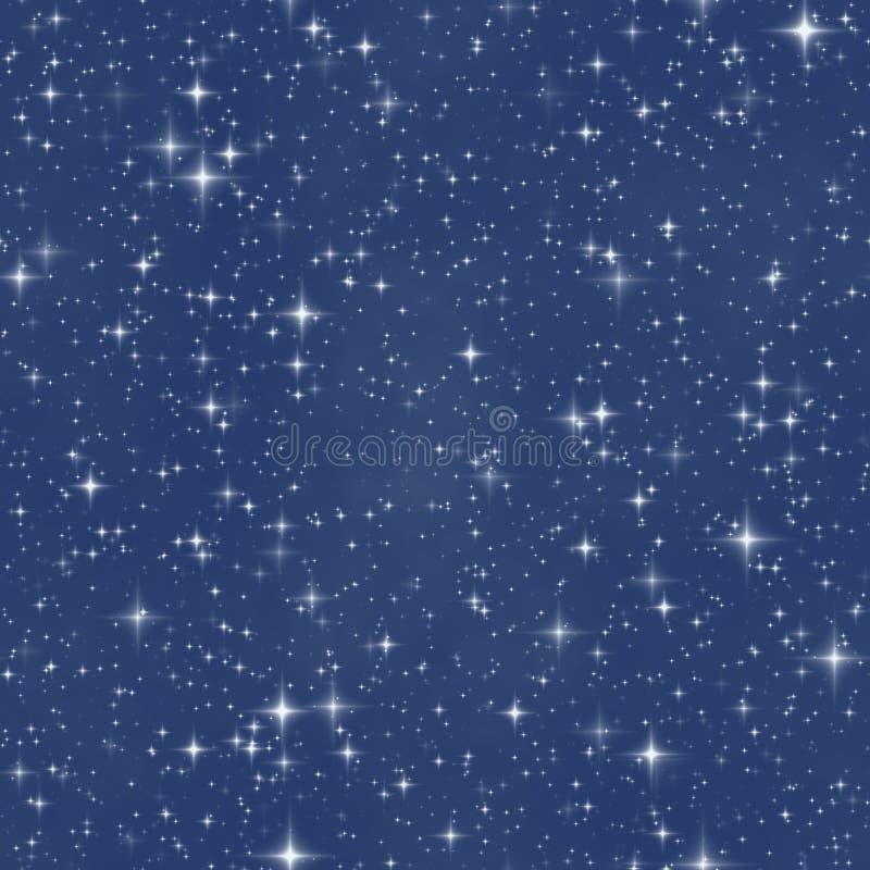De de nachthemel van de fantasiester stock illustratie