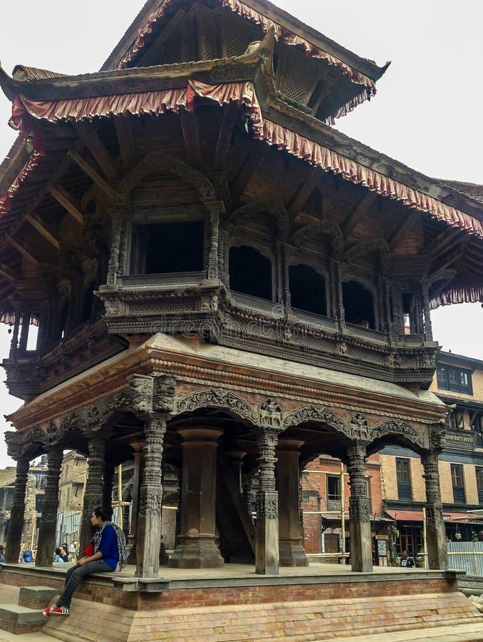 De de Observatiebouw van Meteological van het Bhaktapurkoninkrijk stock foto's