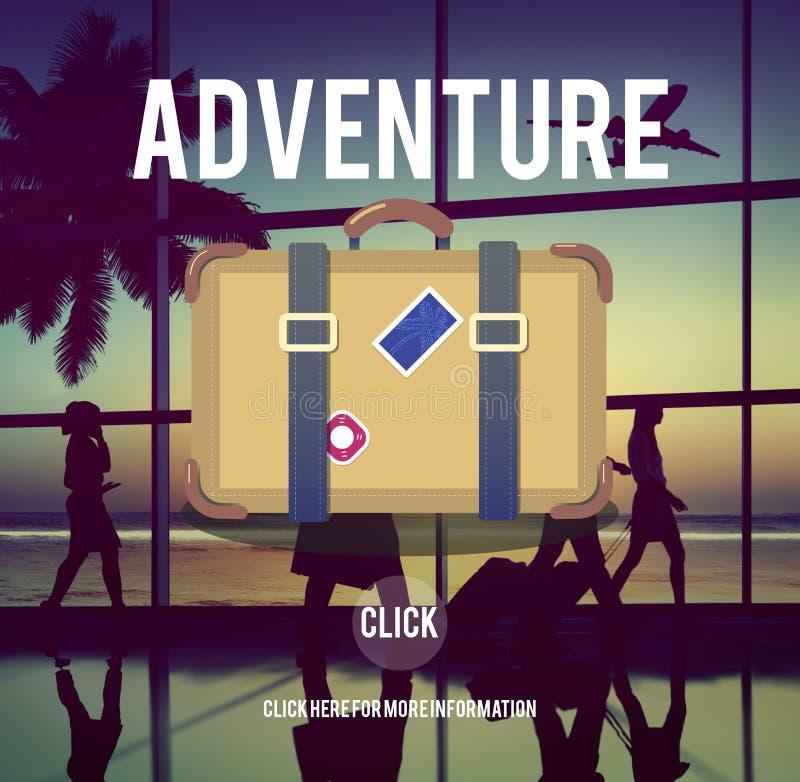 De de Reisbestemming van avonturenbackpacking wandelt Concept royalty-vrije stock foto