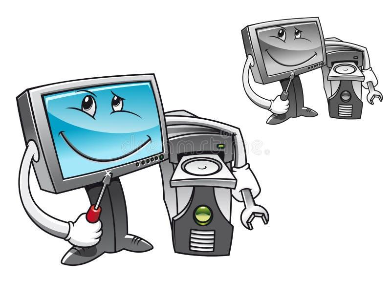 De de reparatiedienst van de computer royalty-vrije illustratie