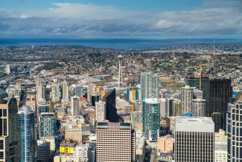 De de RuimteNaald en horizon van Seattle royalty-vrije stock foto's