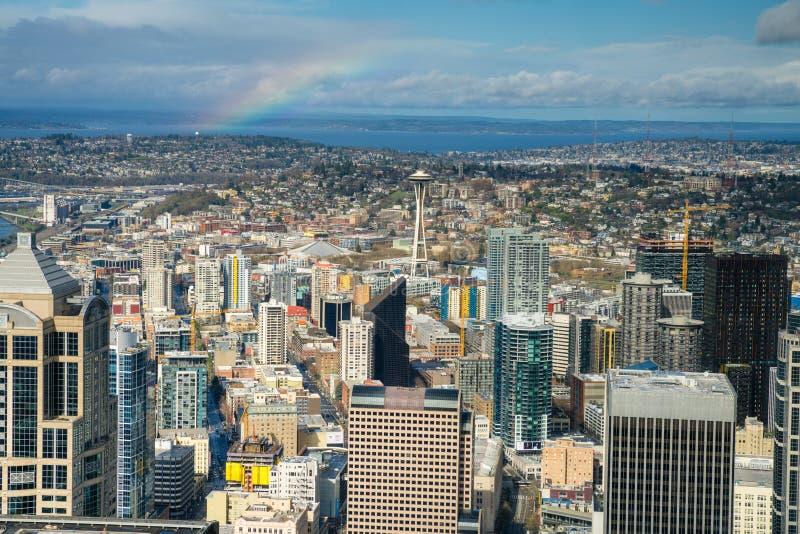De de RuimteNaald en horizon van Seattle royalty-vrije stock foto