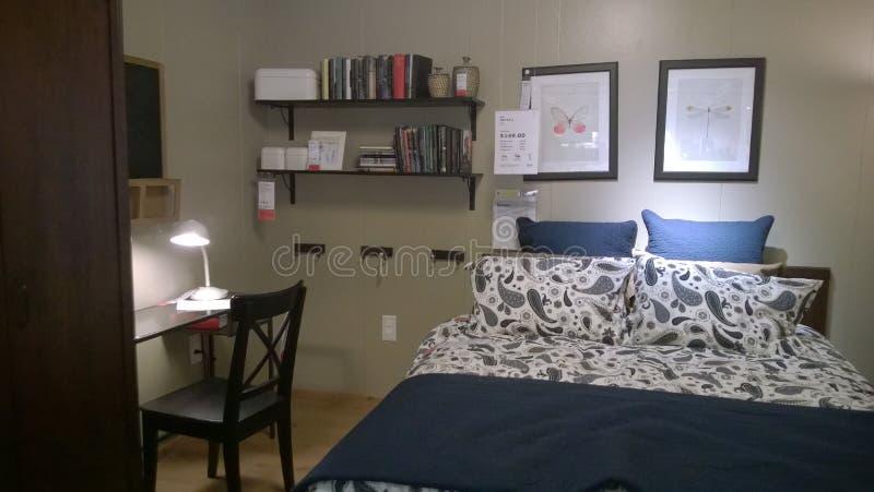De de slaapkamerruimte van Nice toont royalty-vrije stock foto