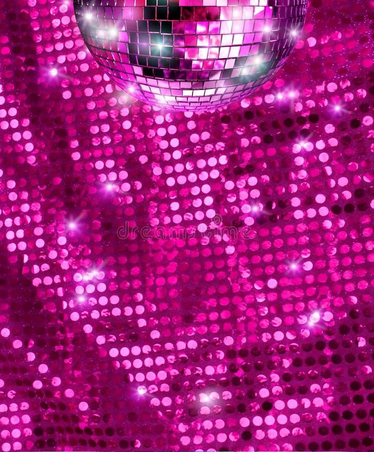 De de spiegelbal van de disco schittert stock foto's