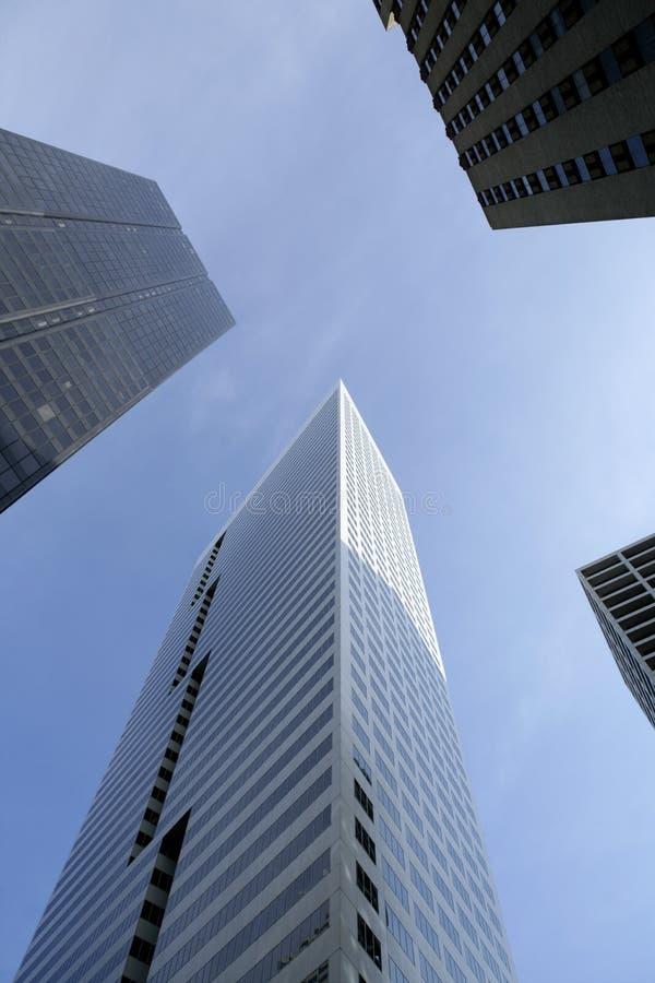 De de stadsgebouwen van de binnenstad van Houston Texas royalty-vrije stock afbeelding