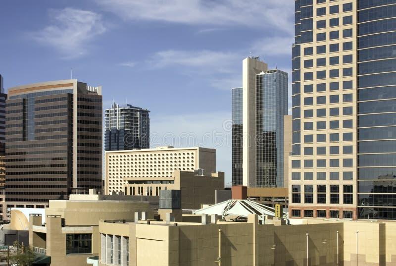 De de stadsgebouwen van de binnenstad van Phoenix stock fotografie