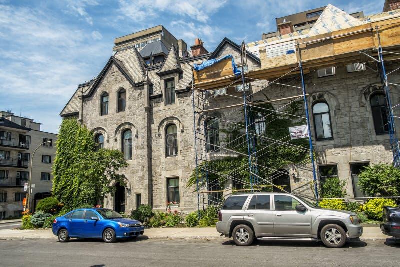De de straatmening van de binnenstad van Montreal royalty-vrije stock afbeelding
