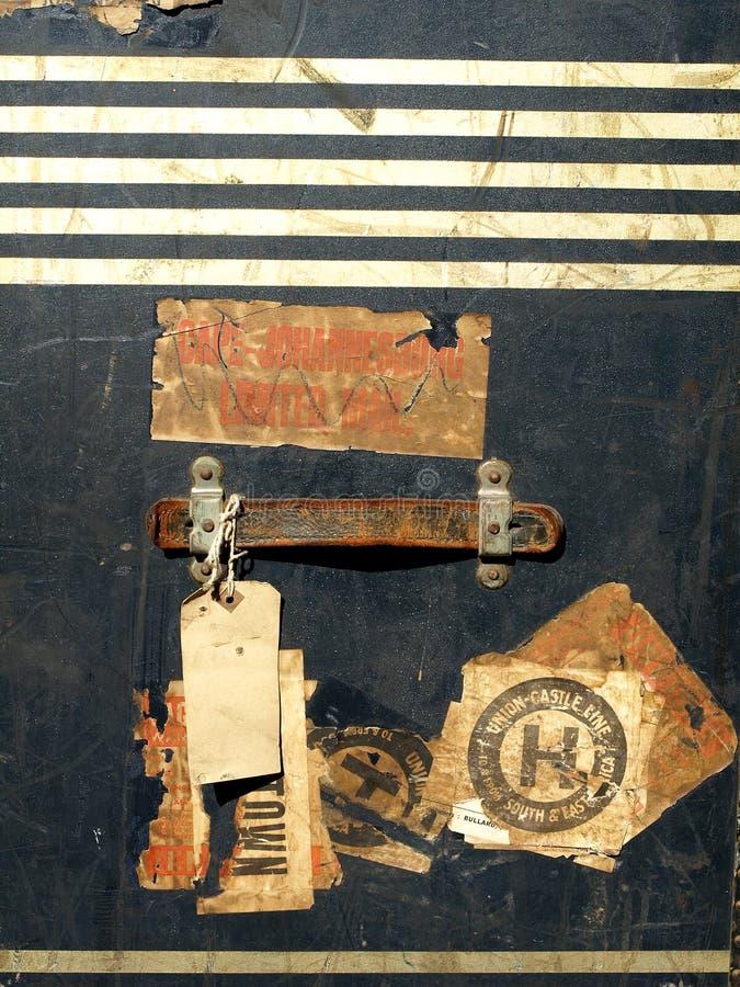 De de uitstekende Stickers en Etiketten van het Geval van de Reis royalty-vrije stock afbeelding