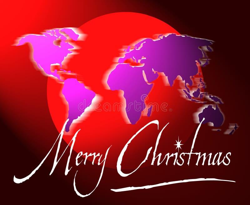 De de vrolijke kaart of bol van de Kerstmiswereld
