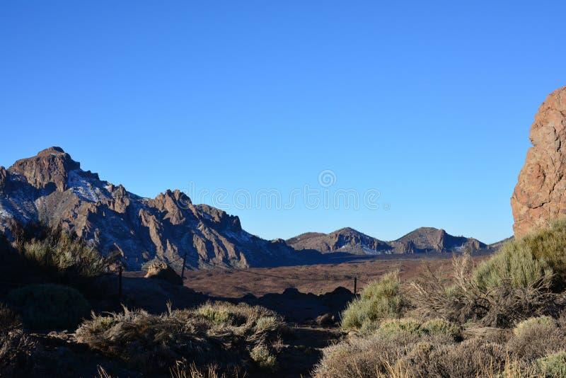 De de vulkaanklippen van de berglava schommelt Plato, zonsopgang in de bergen, berglandschap, landschap, Teide royalty-vrije stock foto