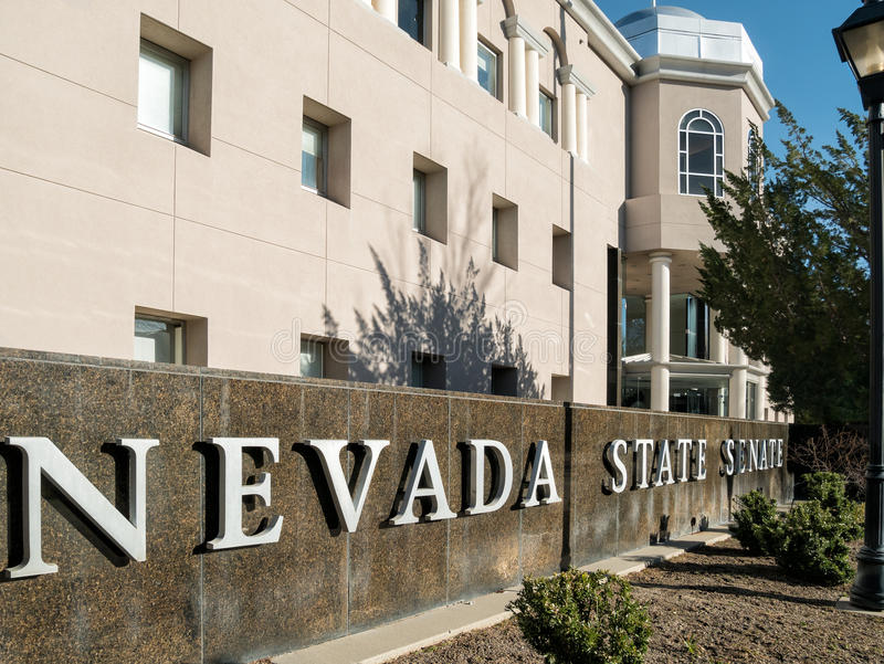 De de Wetgevende machtbouw van de staat, Carson City, Nevada royalty-vrije stock afbeelding
