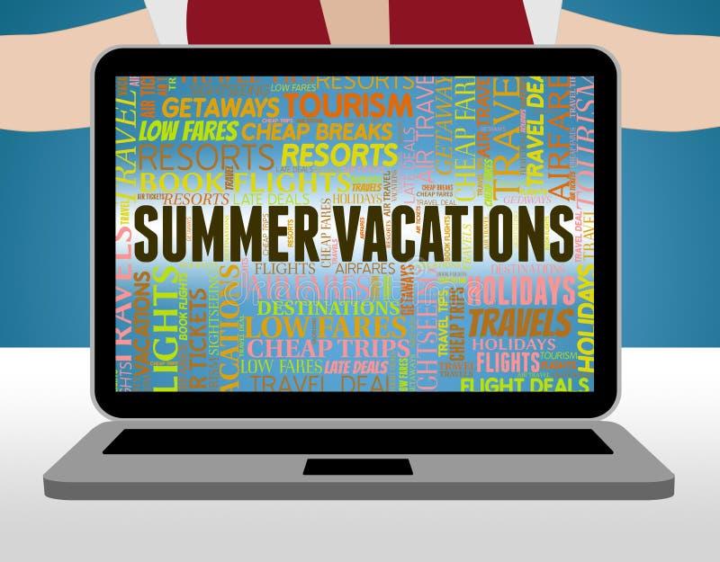 De de zomervakanties betekent Strandzomer en Ontsnapping stock illustratie