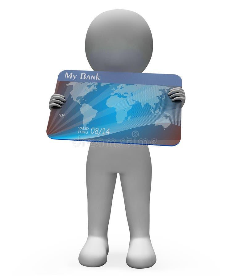 De debetkaart toont Creditcards en Bank het 3d Teruggeven royalty-vrije illustratie
