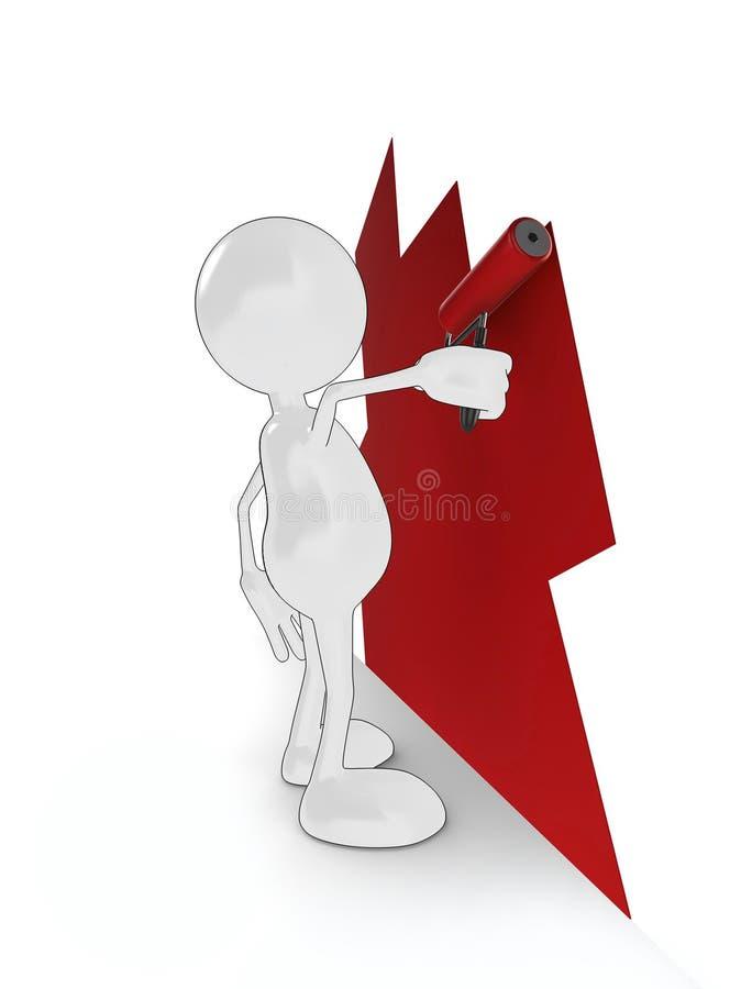 De decorateur van het beeldverhaal vector illustratie