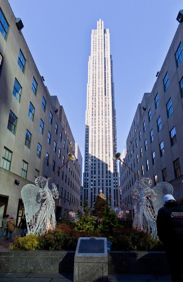 De Decoratie New York van Kerstmis van het Centrum van Rockefeller stock afbeelding