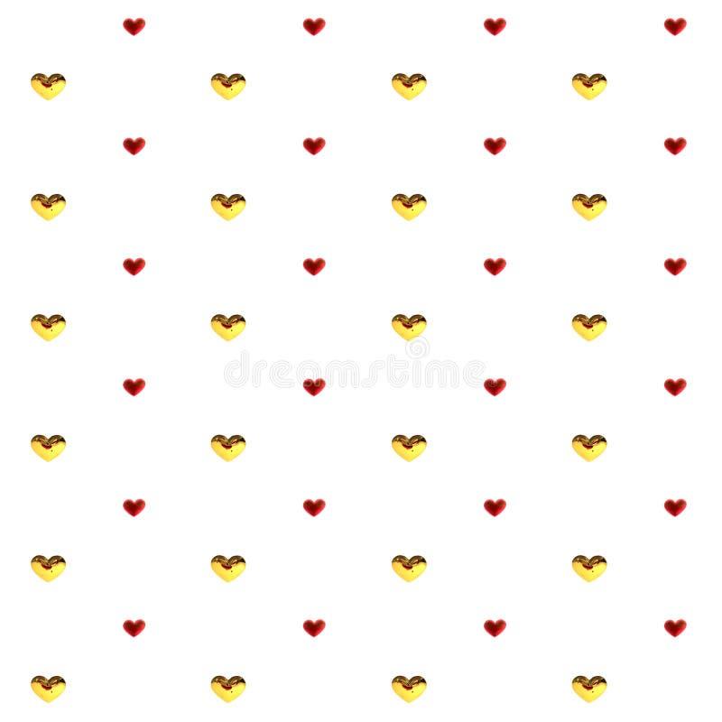 De decoratie rode veelkleurig van liefdeharten Romantische gelukkige vreugdeverhouding Gestreept het patroonconcept van de valent royalty-vrije illustratie