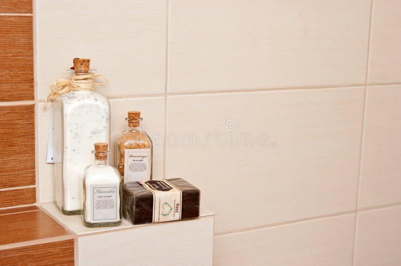 De decoratie van de badkamers stock afbeeldingen