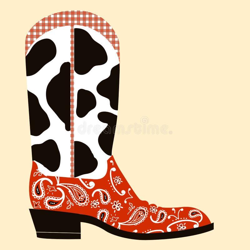De decoratie van de cowboylaars. Westelijk symbool vector illustratie