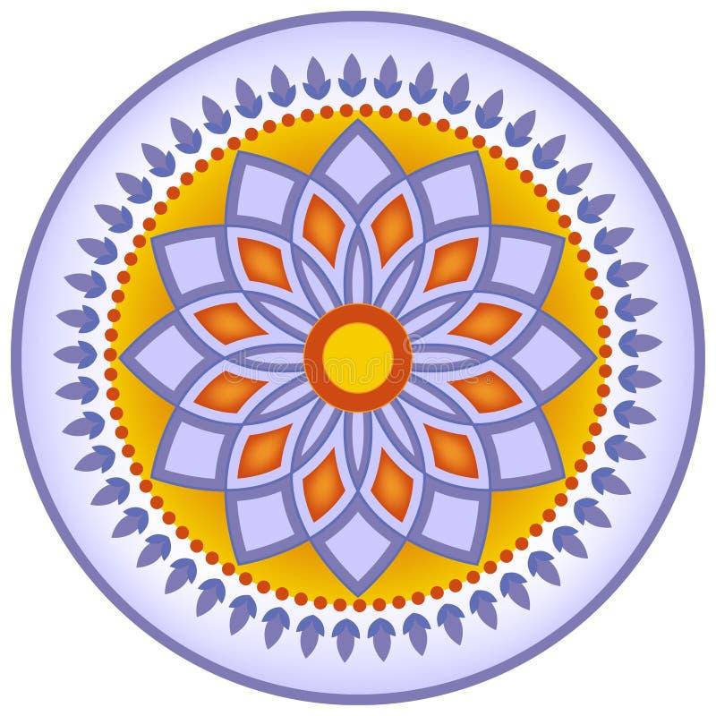 De decoratie van de de stijlschotel van Marokko vector illustratie