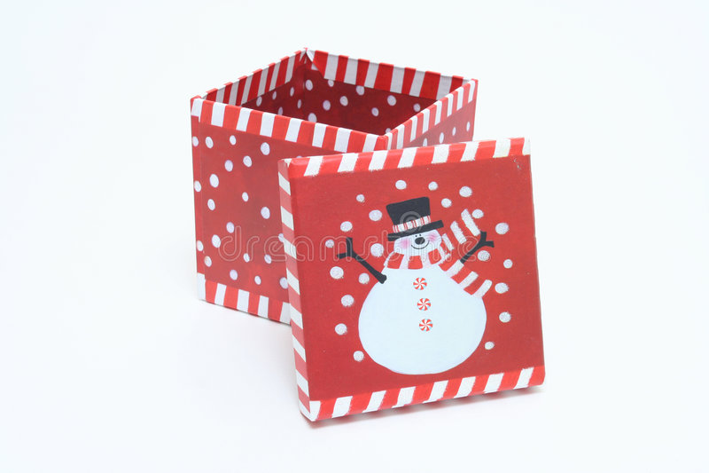 De Decoratie van de Doos van Kerstmis royalty-vrije stock fotografie