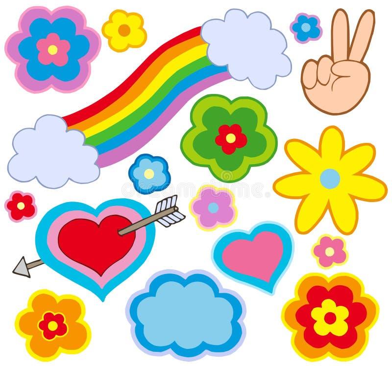 De decoratie van de hippie stock illustratie
