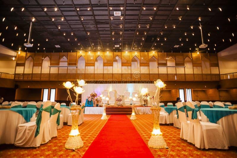De decoratie van de huwelijkszaal stock afbeelding