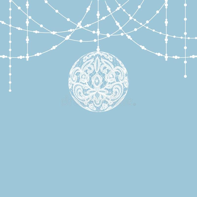 De decoratie van de kantsnuisterij royalty-vrije illustratie