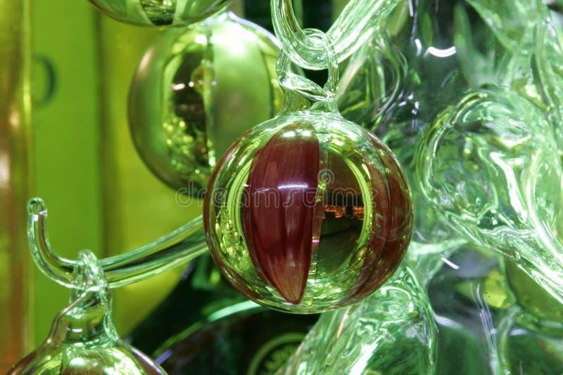 De decoratie van de kerstboom stock foto