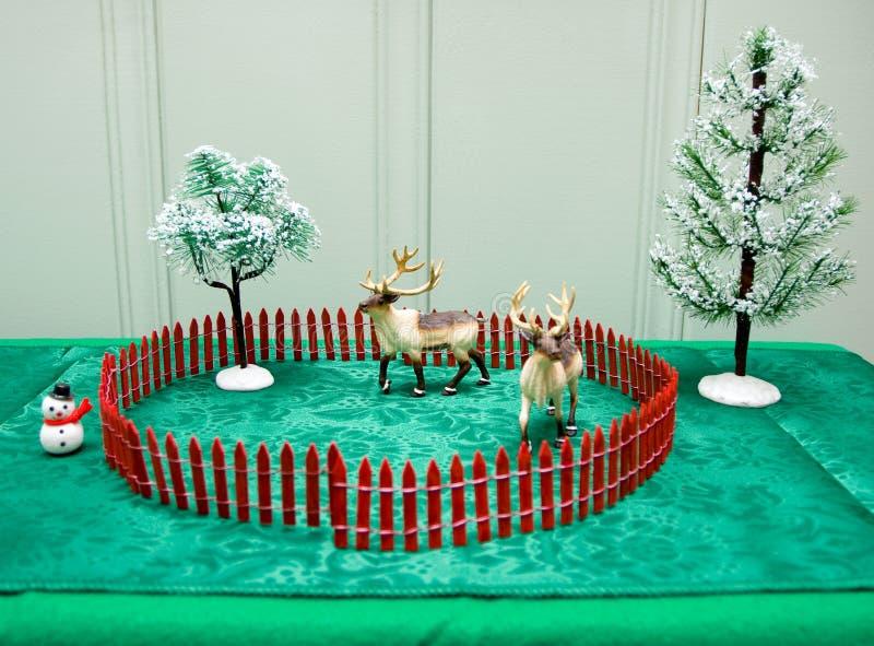 De Decoratie van de Lijst van Kerstmis royalty-vrije stock foto's