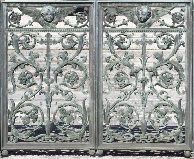 De Decoratie van de metaaldeur (abstract aardelement) stock foto's