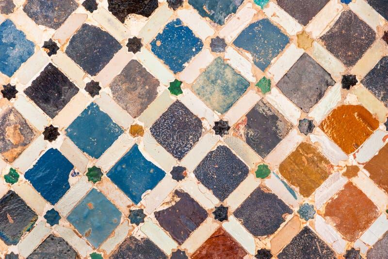 De decoratie van de tegel, Alhambra paleis, Spanje stock illustratie