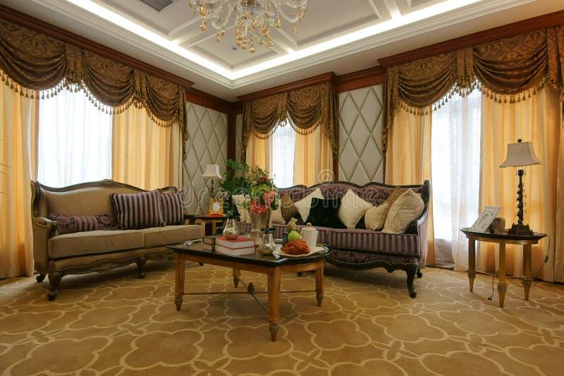 De decoratie van de woonkamer royalty-vrije stock afbeeldingen