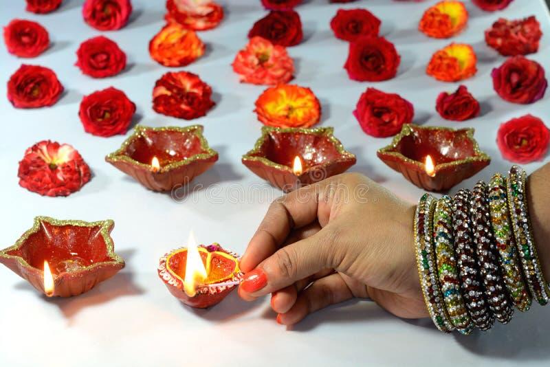 De Decoratie van het Diwalifestival stock foto's
